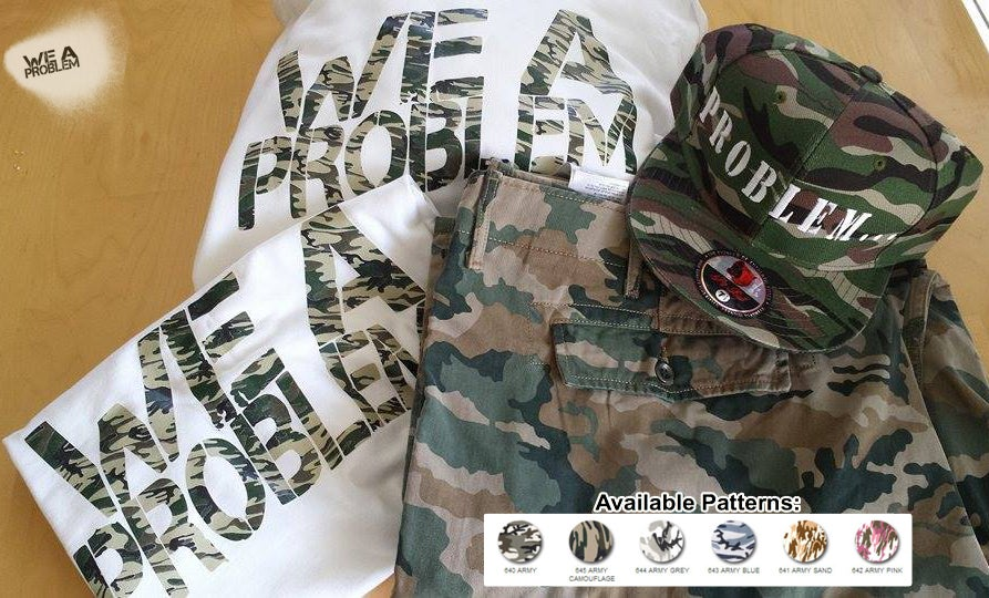 Image of Camouflage We A Problem Logo T-Shirt or Hoodie