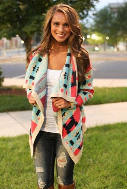 Image of HOT COLORFUL FASHION CARDIGAN COAT