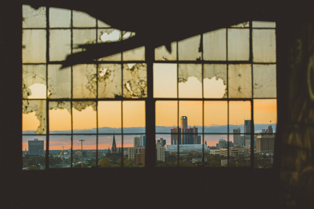 Image of window with a view