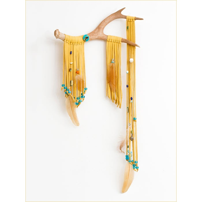 Image of Reverie: Antler & Deerskin Wall Hanging