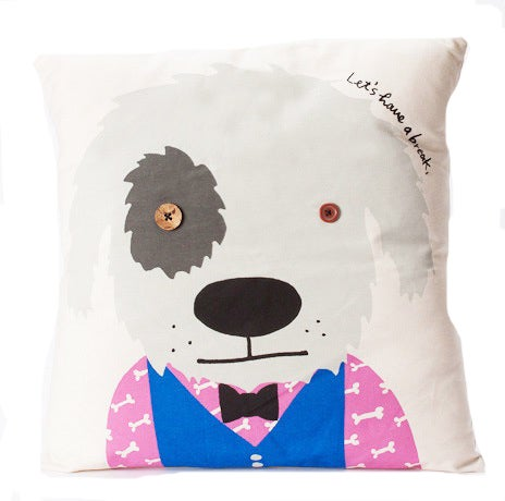 Image of Rex 'Lets have a break' cushion cover