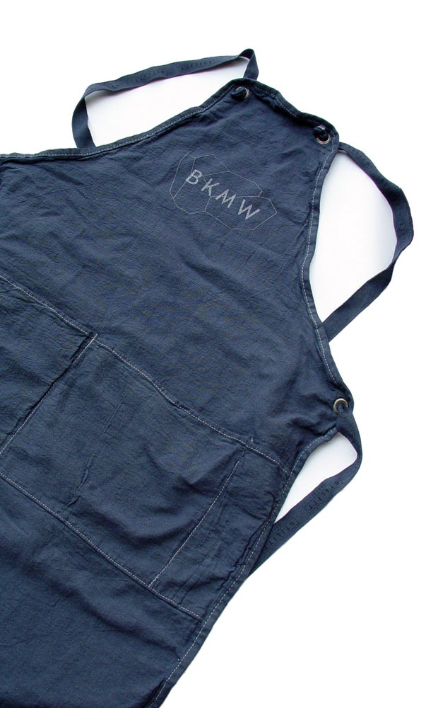 Image of Navy Crossback Utility Canvas BKMW Apron