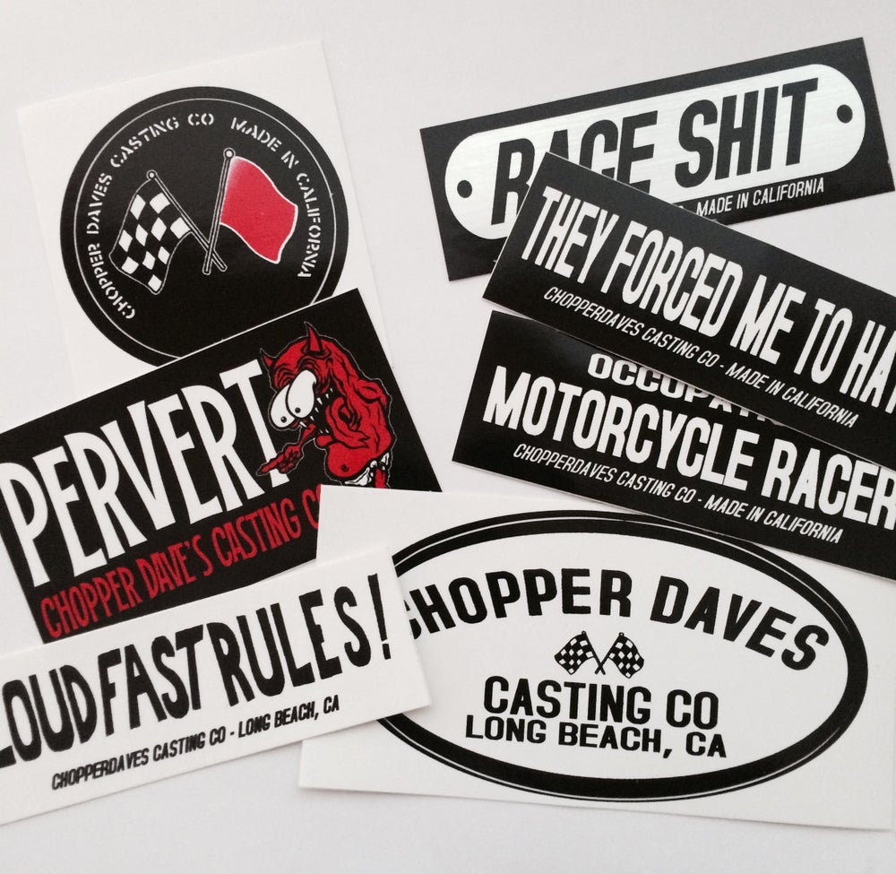 Image of Chopperdaves Sticker pack