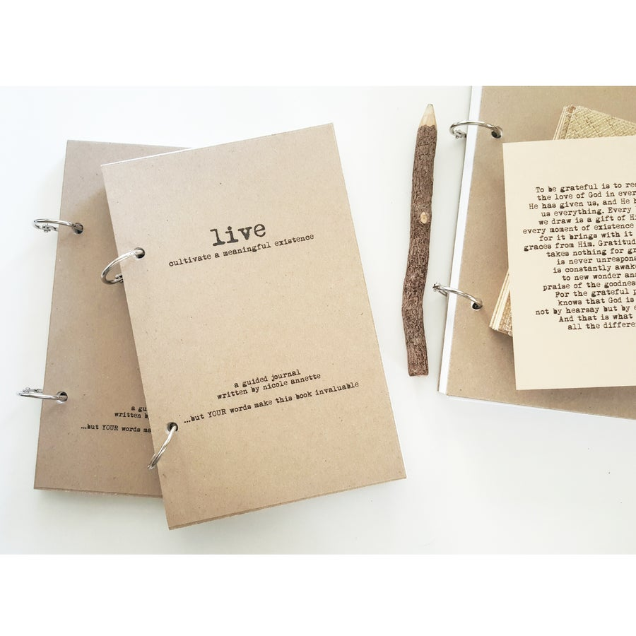 Image of LIVE-A Guided Journal to Celebrate the Beauty of Life-50 Unique Prompts-TAL