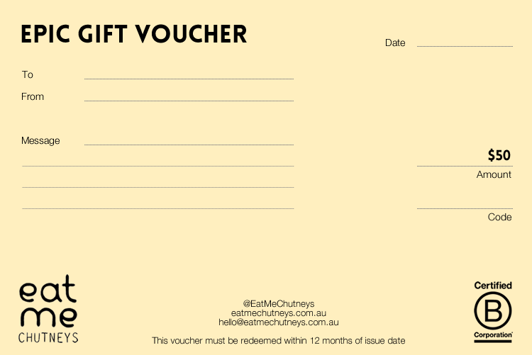 Image of gift voucher 50
