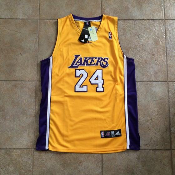 Image of Kobe Bryant Lakers Authentic Adidas Jersey Size 54