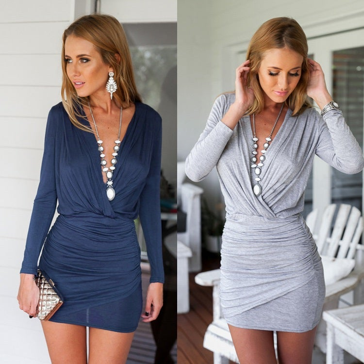 Image of HOT CUTE LONG SLEEVE FASHION DRESS