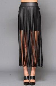 Image of Fringe Mini Skirt