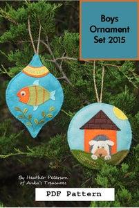 Image of Boys Ornament Set 2015  PDF Pattern ANK 321