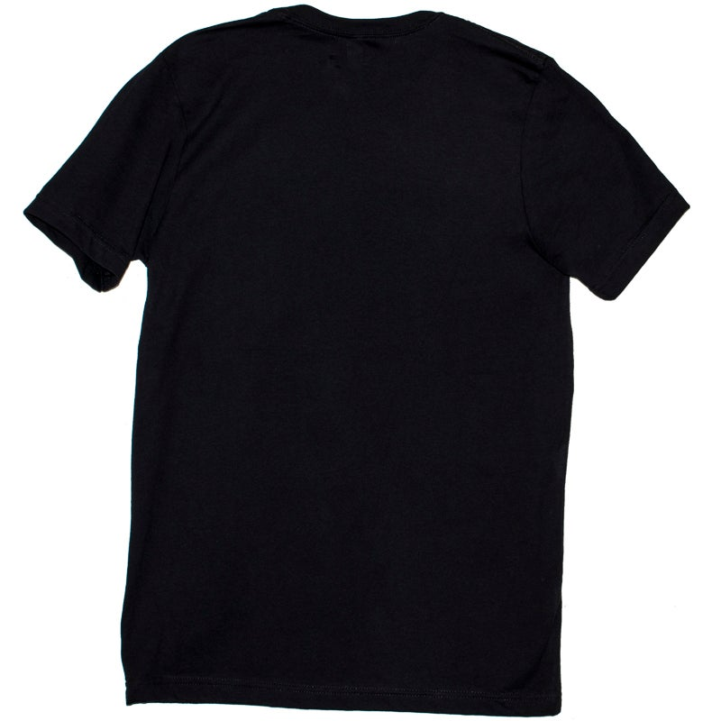 Image of Seeburg Black Tee with Small White Logo