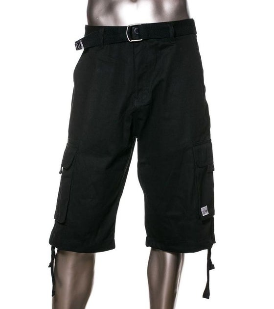 Image of Black Mens Twill Cargo Short