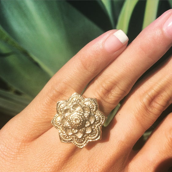 Image of Gold mandala ring