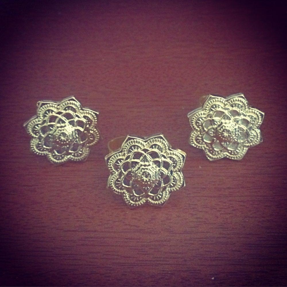 Image of Gold mandala ring
