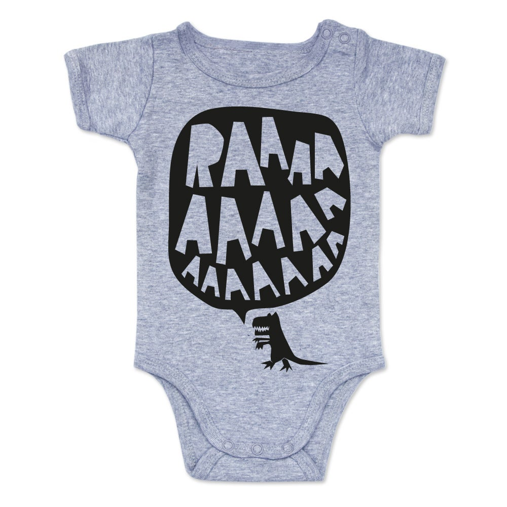 Image of RAAAAA Onesie - Black on Grey