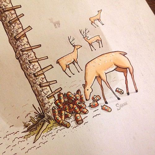 Image of Giclée Print - Deer Stand