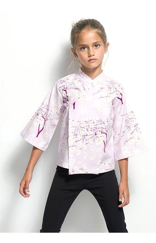 Image of Camisa lila árbol cerezo