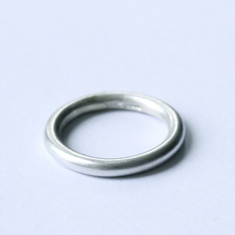 Image of brushed silver ring
