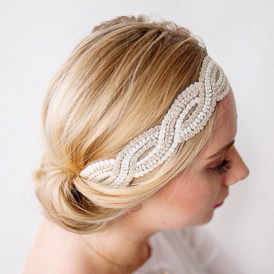 Image of The Olivia Lace Headband - Adult