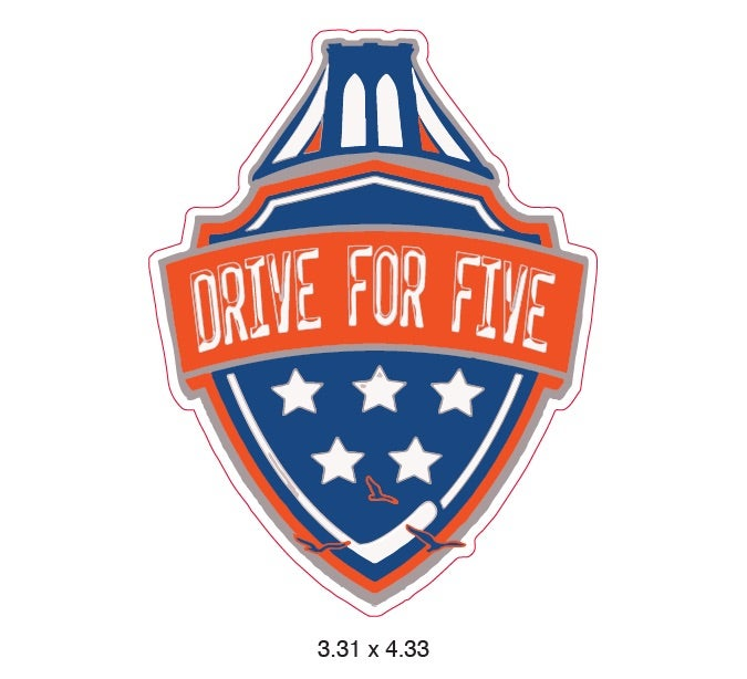 Image of Drive For Five UV Vinyl Sticker