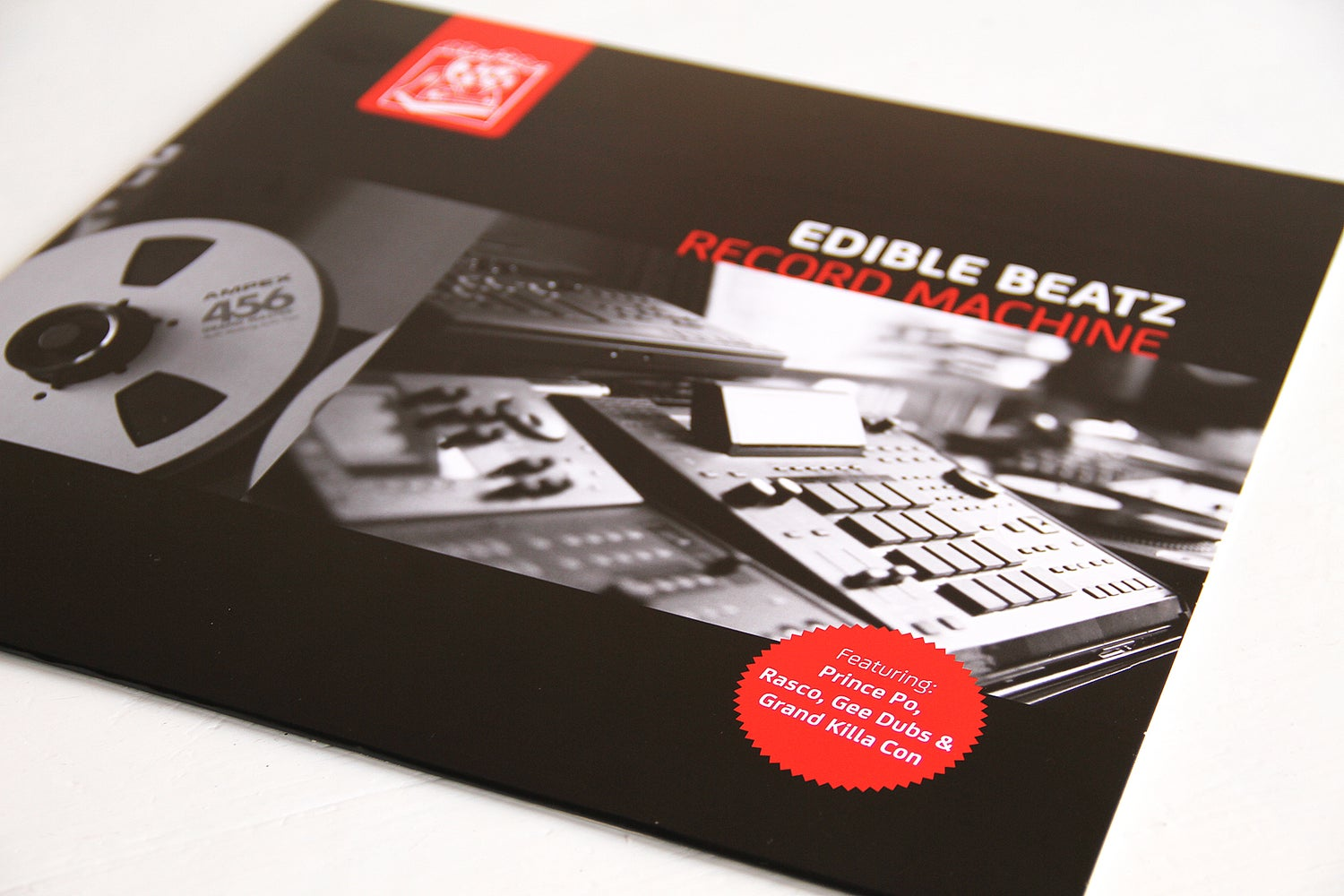 Image of Edible Beatz - Record Machine LP (clear red & black 'marbled' vinyl)