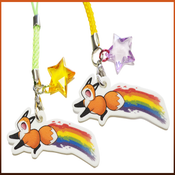 Image of Rainbow Fox Charm