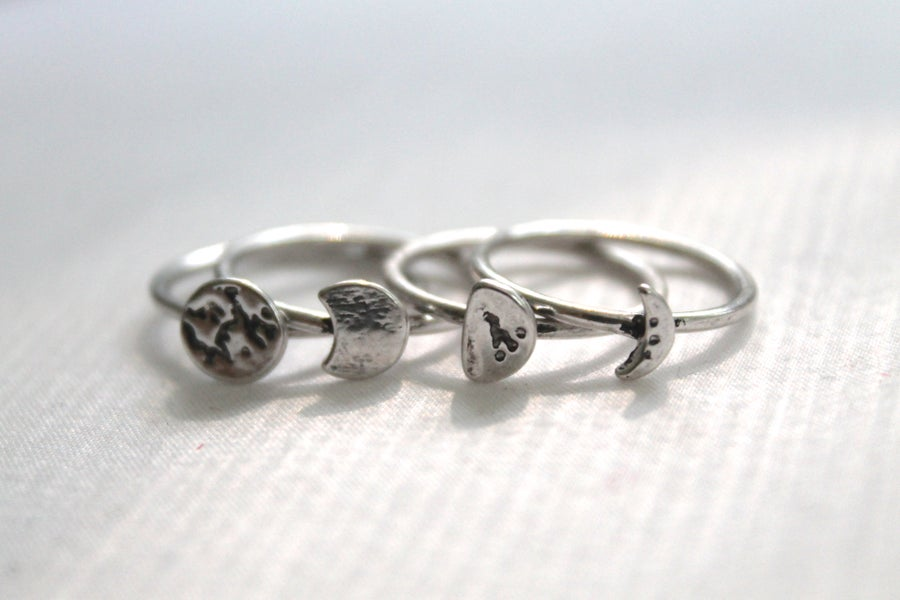 Image of Phases Of The Moon Ring Set (Originally $20)