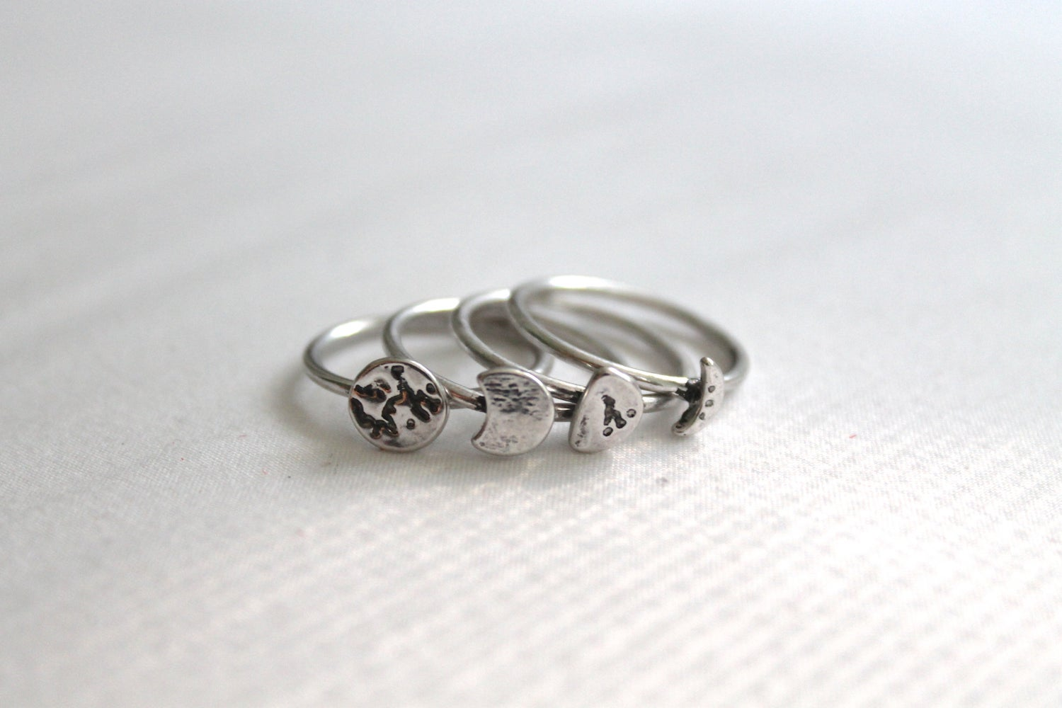 Image of Phases Of The Moon Ring Set (Originally $24)