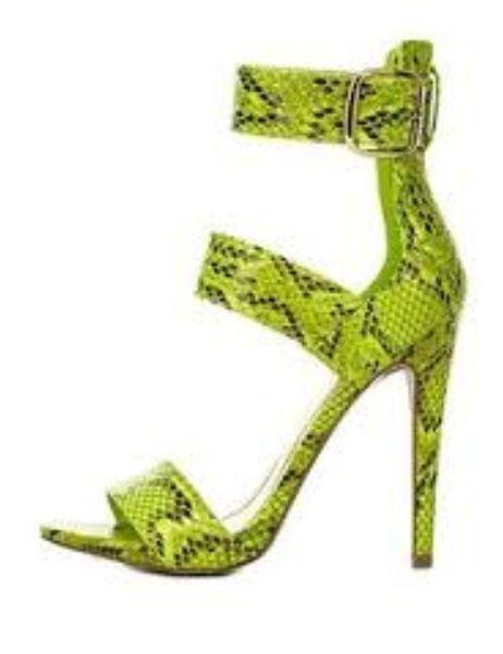 Image of Green Steve Madden Snakeskin Sandals