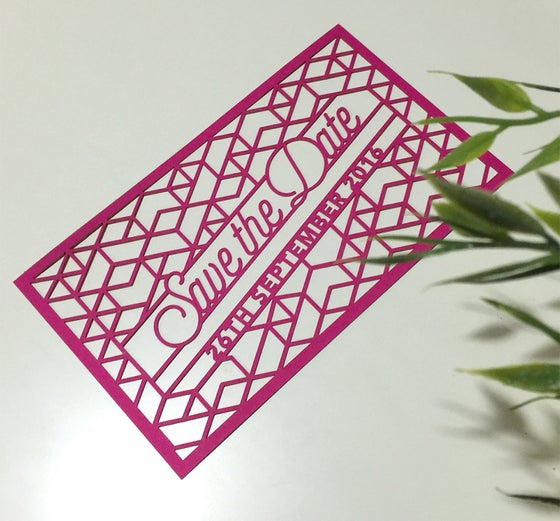 Image of Laser cut Save The Dates {Geometric + Arrow}