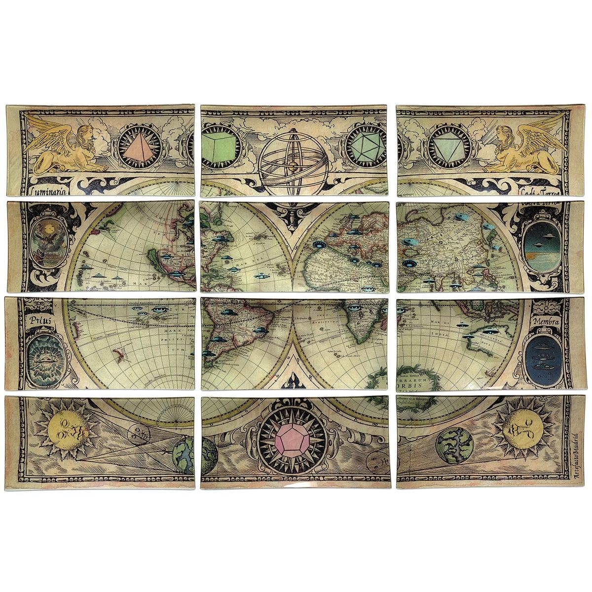 mural orbis et elementa edici n limitada artefacto