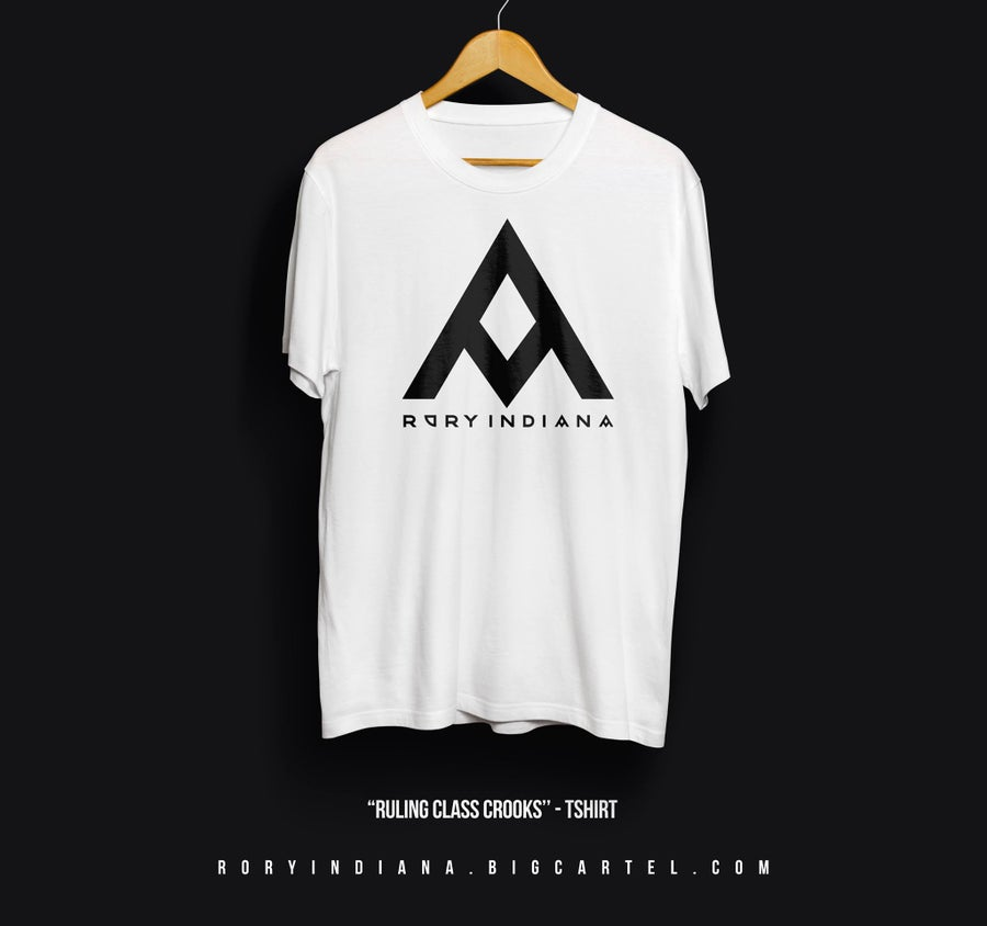 Image of 'Ruling Class Crooks' Tee - White