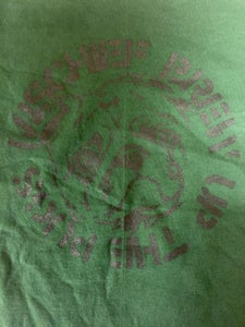 """Image of Mischief Brew - Pine Green """"Crasspug"""" T-shirt (YOUTH LARGE ONLY)"""