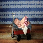 Image of Tiny Red Wagon - Photography Prop - Newborn