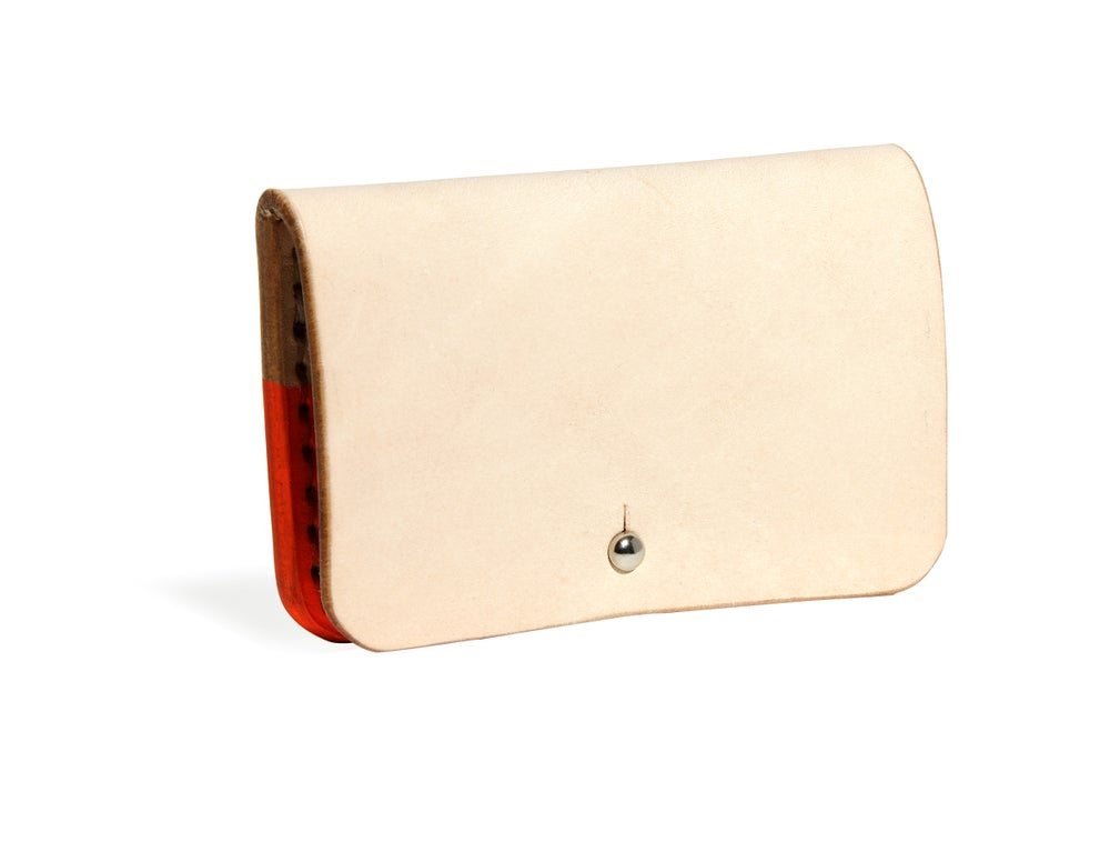 Image of Hand Dipped in Orange Paint Card Case