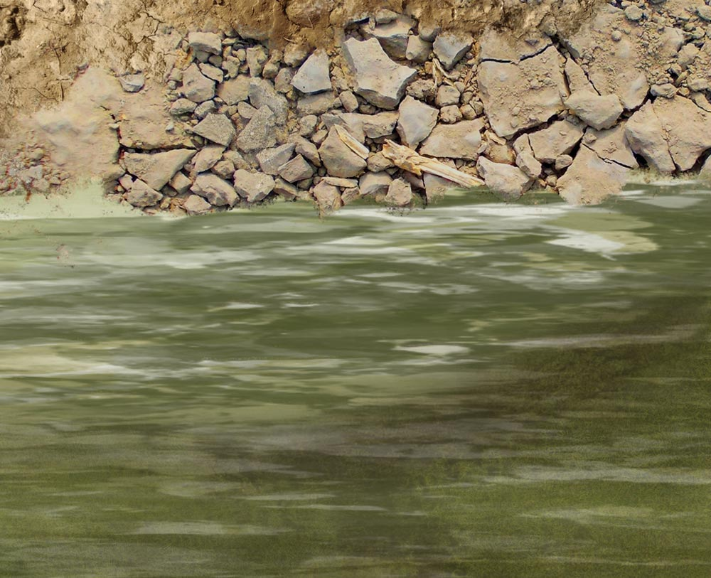 Image of 4 foot River with Banks -- 4x6 plus -- #231