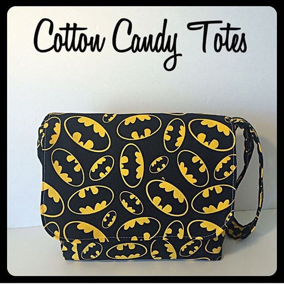 Image of Batman logo kids messenger style bag