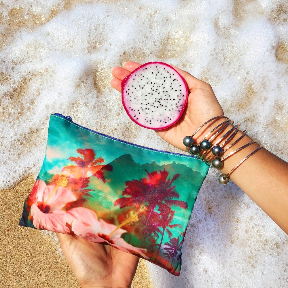 Image of Tropical Dream + Lauren Taylor Zipper Clutch