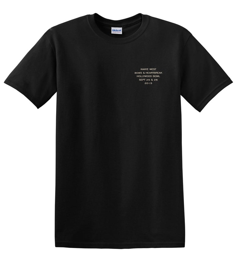 Image of Kanye West Hollywood Bowl 808's T-Shirt Black