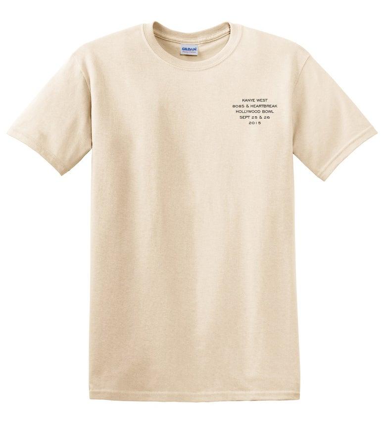 Image of Kanye West Hollywood Bowl 808's T-Shirt Creme