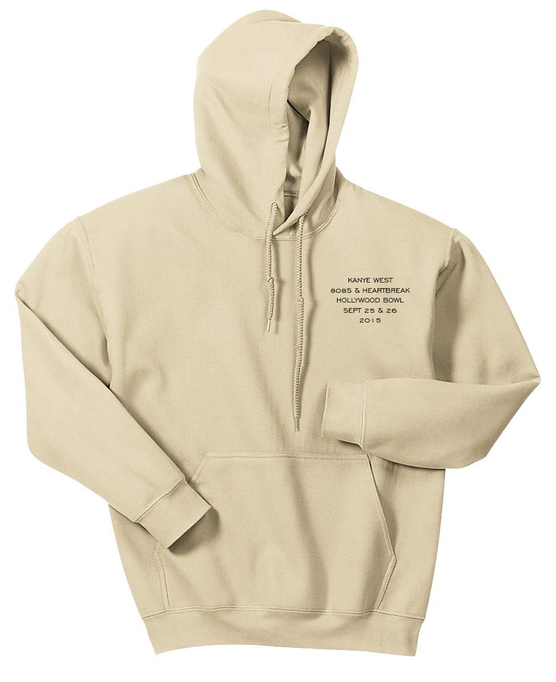 Image of Kanye West Hollywood Bowl 808's Hoodie Creme