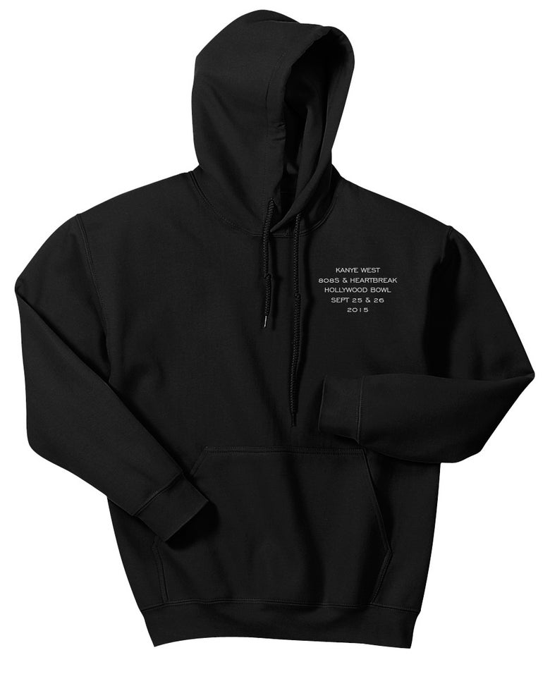 Image of Kanye West Hollywood Bowl 808's Hoodie Black