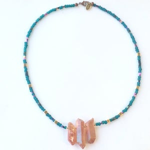 Image of Daya Necklace - with quartz, hematite