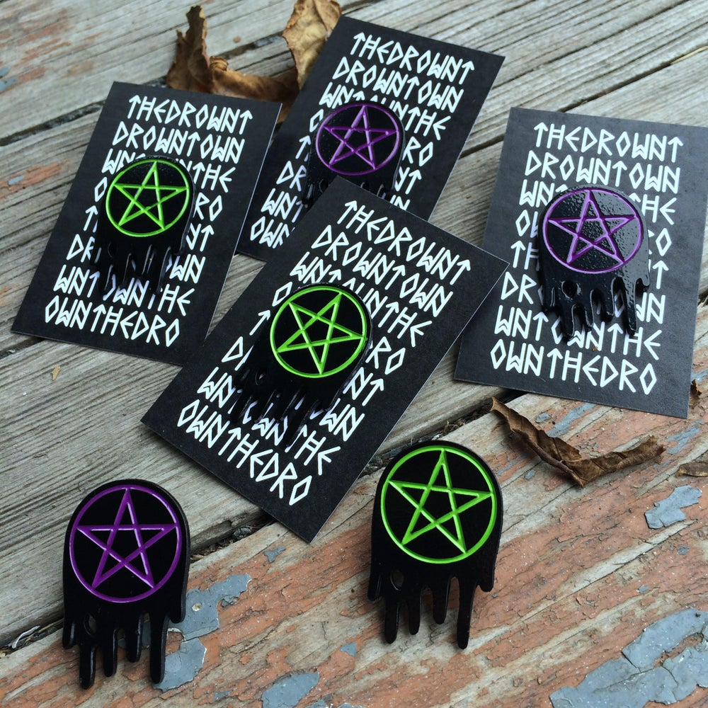 Image of THE BLACK PACT enameled pins
