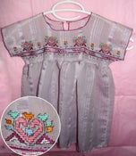 Image of your baby girl's silk dress