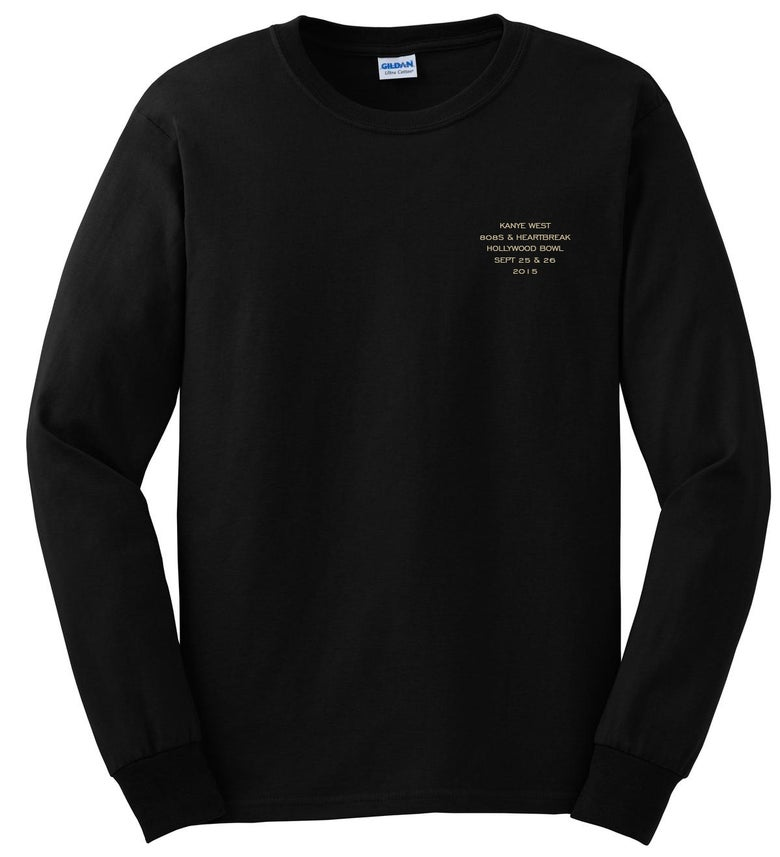 Image of Kanye West Hollywood Bowl 808's Long Sleeve Black