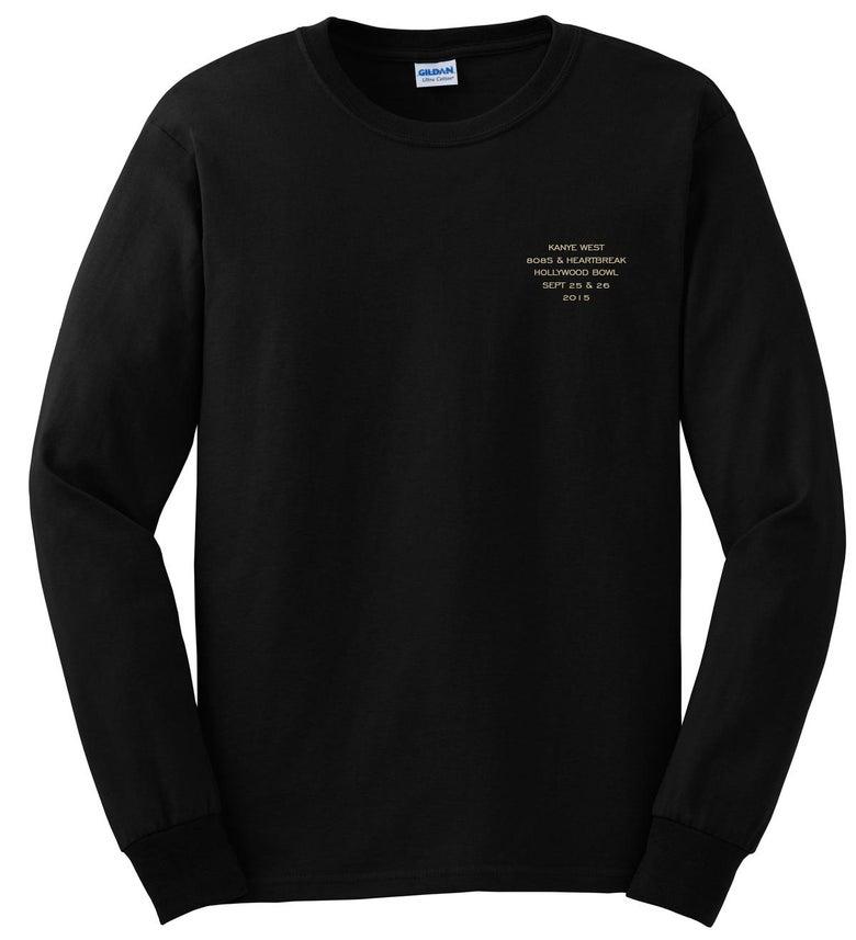 Image of Kanye West Hollywood Bowl 808's Long Sleeve Black