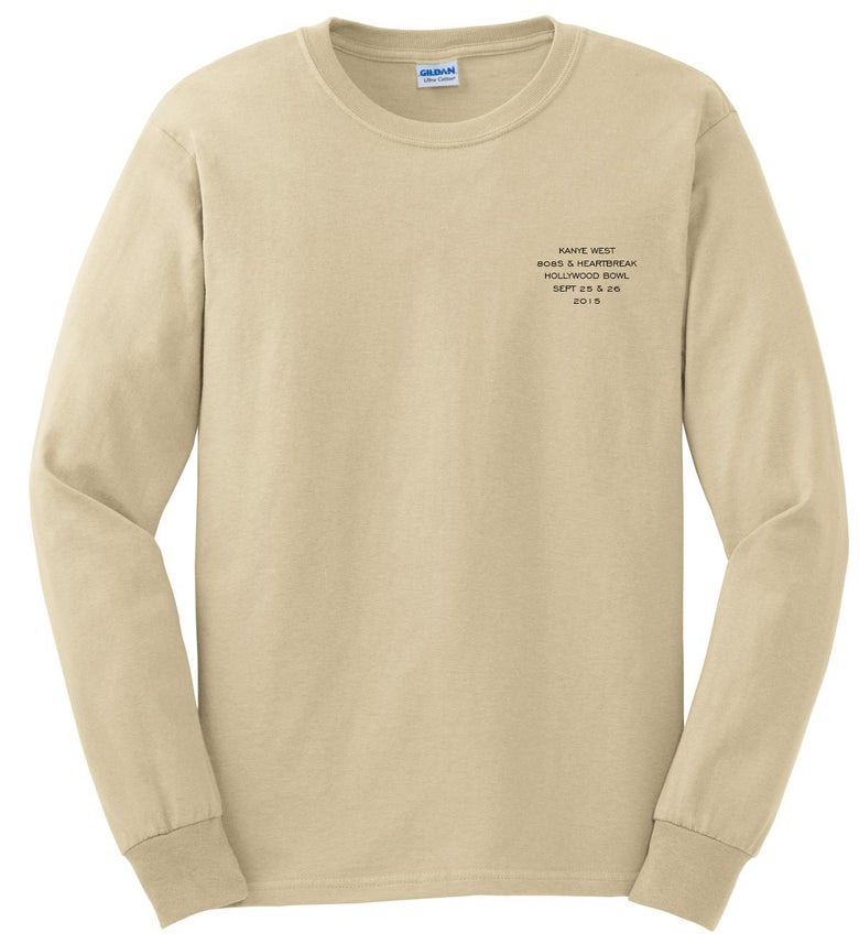 Image of Kanye West Hollywood Bowl 808's Long Sleeve Creme