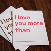 Image of i love you more than card