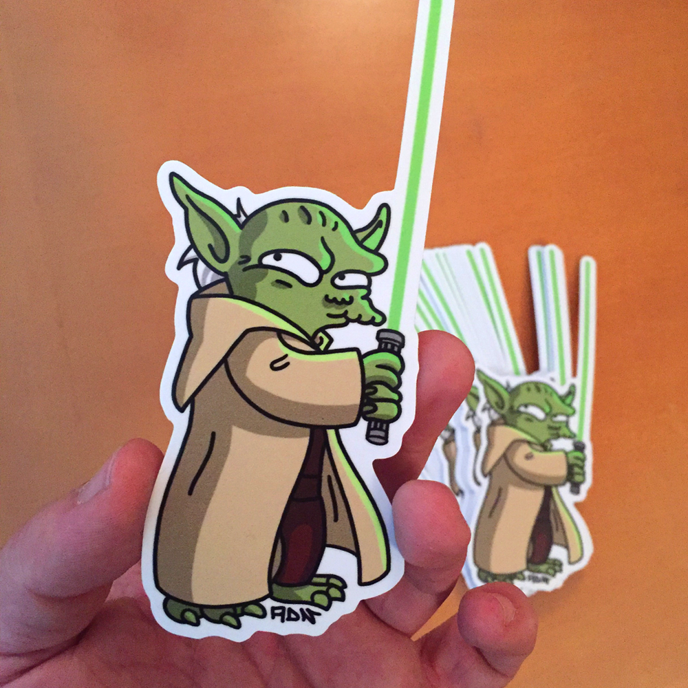 Image of Yoda stickers (3)