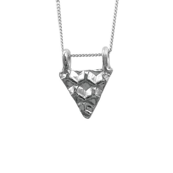 Image of Honeycomb Necklace Triangle Small